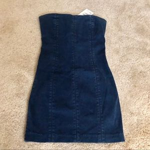 NWT Denim Strapless Mini Dress from Bebe Size XS